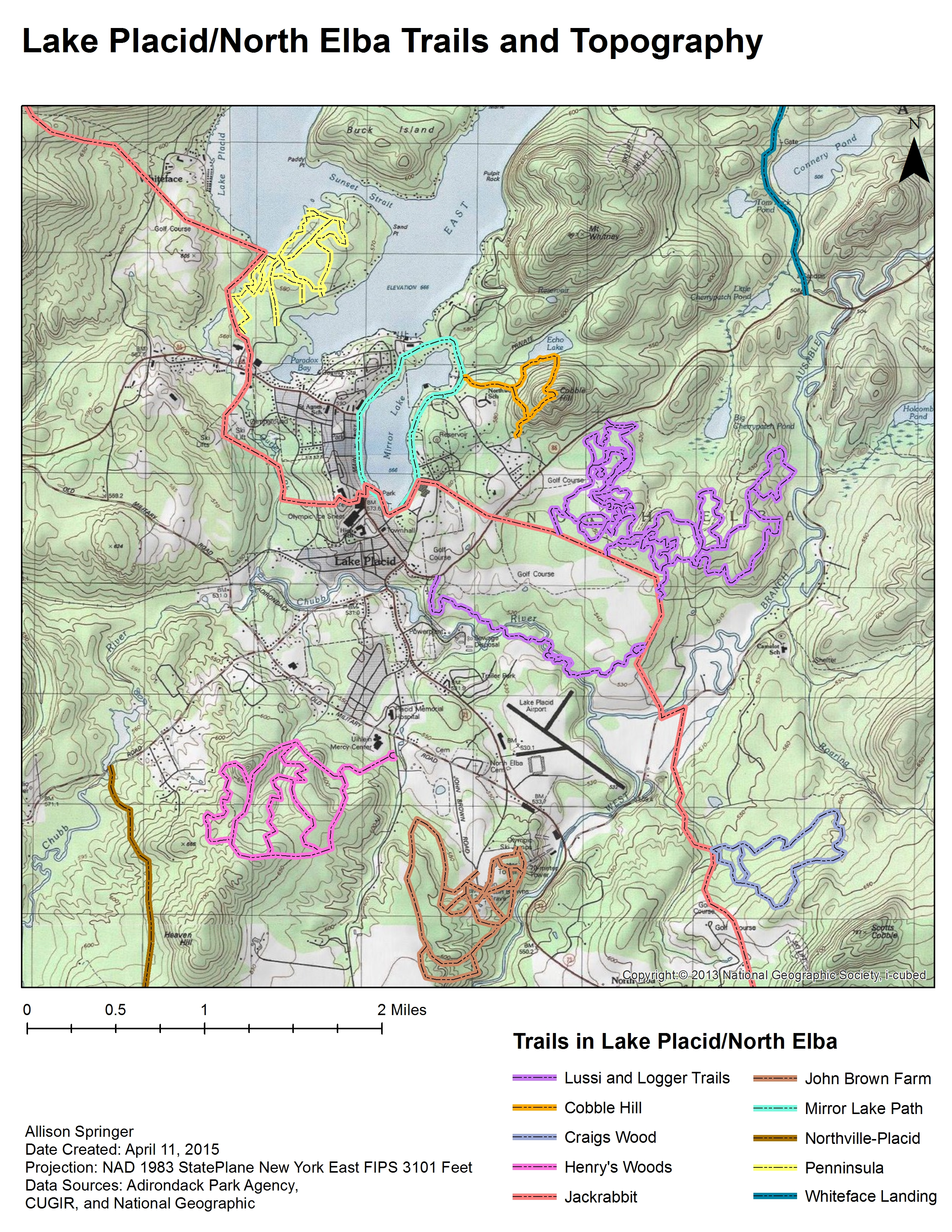 Trail Study Group Lake PlacidNorth Elba Community Development - At trail map